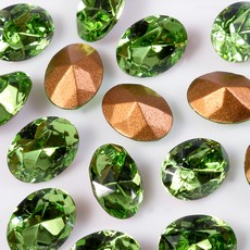 Strass Oval Swarovski art. 41302 Peridot 6x4mm