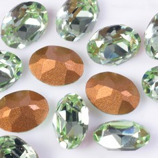 Strass Oval Swarovski art. 4120 Chrysolite 8x6mm