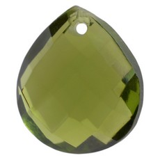 Pingente Mini Amendoa Preciosa art. 41 Olivine 11x10mm
