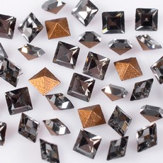 Strass Quadrado Swarovski art. 4401 Black Diamond 2mm