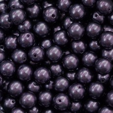 Perola Plastica Dark Purple Velvet 14mm