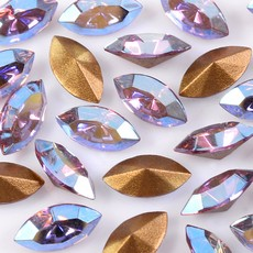 Strass Navete Swarovski art. 42002 Light Ametista Aurora Boreal 8x4mm