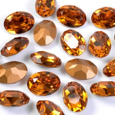 Strass Oval Swarovski art. 4120 Topaz 18x13mm