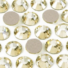 Strass Chaton Base Reta sem cola Preciosa art. 43811612 Viva 12 Cristal Blond Flare SS30  6,30mm