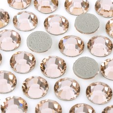 Strass Chaton Base Reta com cola Hot Fix Preciosa art. 43811612 Viva 12 Light Peach SS20  4,6mm