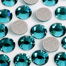 Strass Chaton Base Reta com cola Hot Fix Preciosa art. 43811612 Viva 12 Blue Zircon SS16  3,8mm
