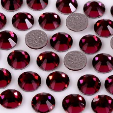 Strass Chaton Base Reta com cola Hot Fix Preciosa art. 43811612 Viva 12 Ruby SS12  3mm