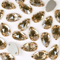 Gota para Bordar Preciosa 2 Furos 43867301 Cristal Honey 18x10,5mm