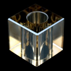 Cubo Lapidado art. 37 LDI 120 Cristal Honey 25x25x25mm