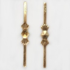 Clips Gravata art. 5004 LDI Dourado 8x8mm