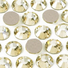 Strass Chaton Base Reta sem cola Preciosa art. 43811612 Viva 12 Cristal Blond Flare SS48  10,95mm