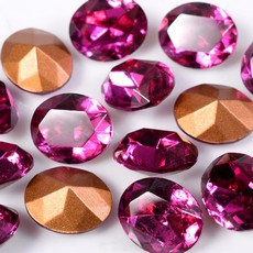 Strass Oval Swarovski art. 41302 Fuchsia 8x6mm