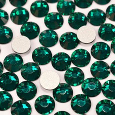 Strass Chaton Base Reta com cola Hot Fix Preciosa art. 43811612 Viva 12 Emerald SS16  3,8mm