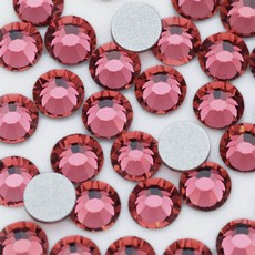Strass Chaton Base Reta sem cola Preciosa art. 43811612 Viva 12 Indian Pink SS 8  2,30mm