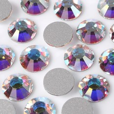 Strass Chaton Base Reta sem cola Preciosa art. 43811612 Viva 12 Cristal Aurora Boreal New SS 34  7mm
