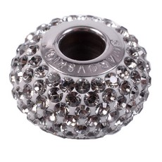 Charm Swarovski Becharmed Pave Strass Black Diamond Aproximadamente 14mm