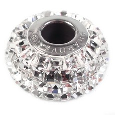 Charm Swarovski Becharmed Pave Strass Carre Cristal 15mm