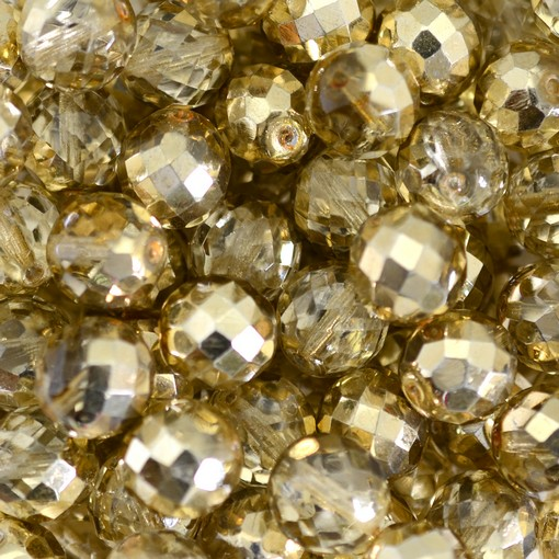Cristal Metalico Ouro 9387 4mm