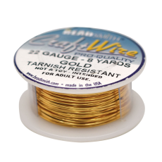Fio Copper Craft Wire Dourado 22 gauge  0,64mm