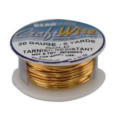 Fio Copper Craft Wire Dourado 20 gauge  0,81mm