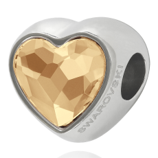 Charm Swarovski Becharmed Coracao Cristal Golden Shadow 14mm
