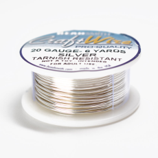 Fio Copper Craft Wire Prata 20 gauge  0,81mm