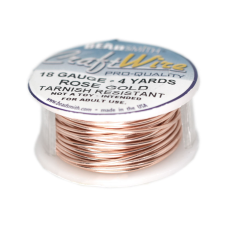 Fio Copper Craft Wire Rose Gold 18 gauge  1mm