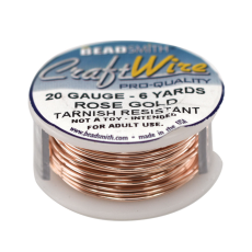 Fio Copper Craft Wire Rose Gold 20 gauge  0,813mm