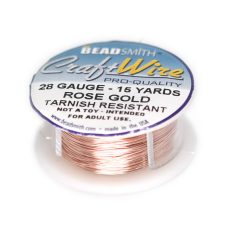 Fio Copper Craft Wire Rose Gold  28 gauge  0,32mm