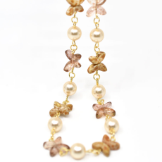 Colar Jasmine Collection Dourado 49cm Gold Quartz
