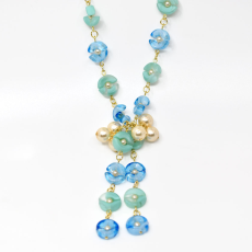 Colar Charm Collection Dourado 49cm Turquoise