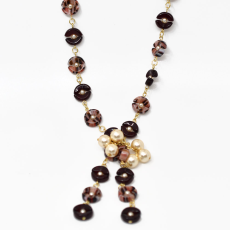 Colar Charm Collection Dourado 49cm Garnet
