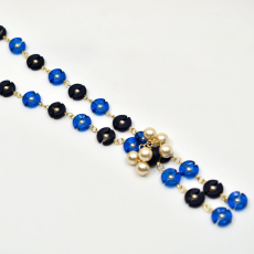 Colar Charm Collection Dourado 49cm Capri Blue