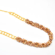 Colar Charlote Collection 40cm Gold Quartz