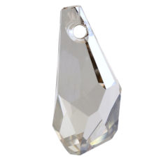Pingente Drops Polygon Swarovski art. 6015 Cristal Silver Shade 13mm