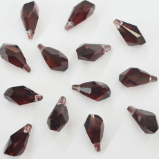 Pingente Drops Polygon Swarovski art. 6015 Burgundy 17mm